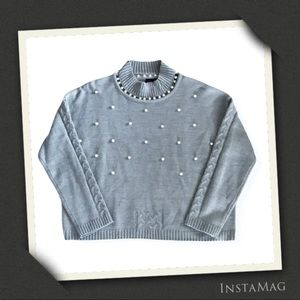 CLICHE Pearl Studded Sweater